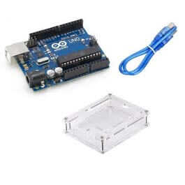 Arduino Uno R3 with cable and case