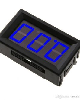 0.56inch 0-100V Three Wire LED Display Digital DC Voltmeter-BLUE