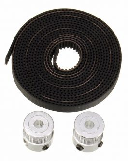 2 Meter GT2 Timing Belt + 2Pcs of GT2 pulley (20 teeth)