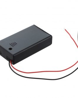 3 x 1.5V AAA battery holder with cover and On/Off Switch