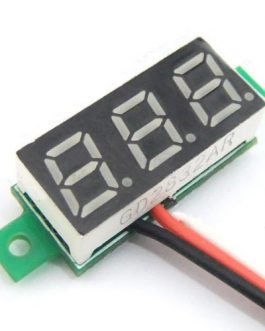 0.28inch 0-100V Three Wire DC Voltmeter Red