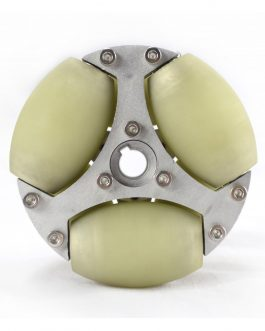 100MM ALUMINUM OMNI WHEEL WITH PU ROLLER