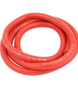 High Quality 6AWG Silicone Wire 1m (Red)