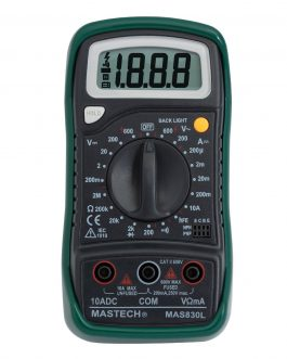 Mastech MAS830L Digital Multimeter – Multi meter with Probes (Original)