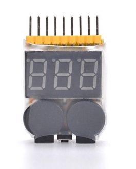 High Quality 1-8S Battery Voltage Checker & Low Voltage Buzzer Alarm