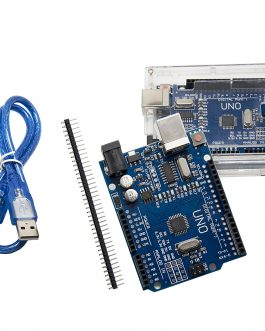 UNO R3 CH340G ATMega328P compatible with arduino + Cable + Transparent Acrylic Case For Uno R3