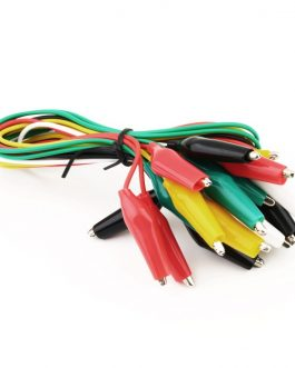 Alligator Clips Electrical DIY Test Leads 10pcs of Double-ended Crocodile Clips Roach Clip