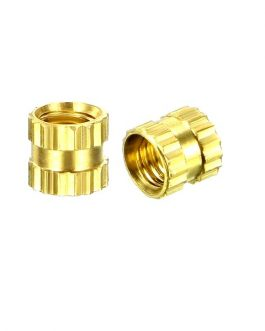 M3 X 4 mm Brass Heat Set Threaded Round Insert Nut-25 Pcs.