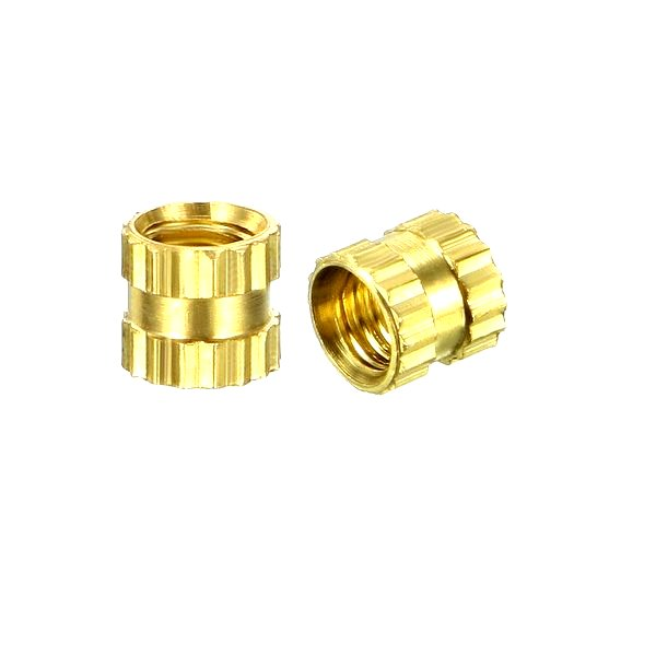 M4 X 6 mm Brass Heat set Threaded Round Insert Nut – 25 Pcs