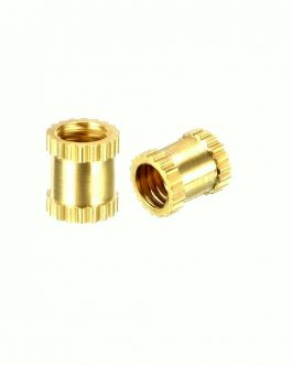 M3 X 8 mm Brass Heat Set Threaded Round Insert Nut-25 Pcs.