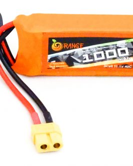 Orange 1000mAh 3S 40C/80C Lithium polymer battery Pack (LiPo)