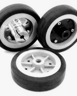 EasyMech 100mm Modified Heavy Duty(HD) Disc Wheels Gray – 4Pcs