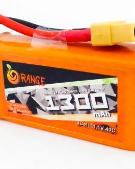 ORANGE 1300mAh 3S 40C (11.1 V) Lithium Polymer Battery Pack (Li-PO)