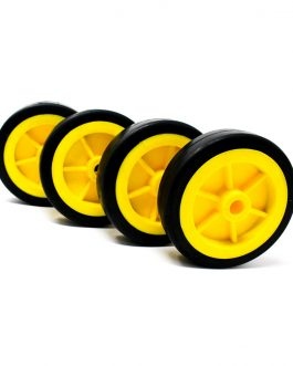 EasyMech Heavy Duty(HD) Disc Wheel 100mm Dia – 4Pcs(Yellow Color)