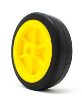 EasyMech Heavy Duty(HD) Disc Wheel 100mm Dia – 1Pcs(Yellow Color)