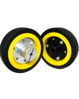 EasyMech 100mm Modified Heavy Duty(HD) Disc Wheel Yellow – 2pcs