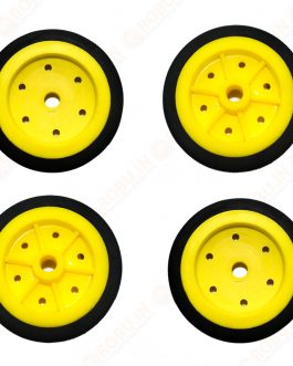 EasyMech 100mm Modified Heavy Duty(HD) Disc Wheels Yellow – 4Pcs