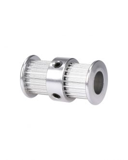 Aluminum GT2 Timing Double Head Pulley 20 Tooth 5mm Bore For 6mm Belt