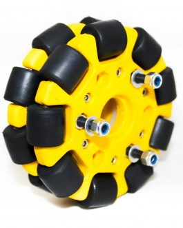 EasyMech Yellow 100mm Double Glass Fiber Omni Wheel (BUSH TYPE ROLLER) High Quality