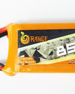 Orange 850mAh 2S 30C/60C Lithium Polymer Battery Pack (Lipo)