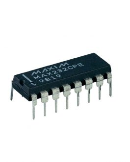 MAX232CPE PDIP-16 RS-232 Interface IC (Pack of 2 ICs)