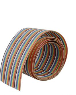 1.27mm 26AWG Pure Copper 40pin Dupont Wire Flexible Rainbow Color Flat Ribbon Cable – 1 Meter