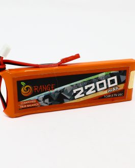 Orange 2200 mAh 1S 25C/50C Lithium polymer battery Pack (LiPo)