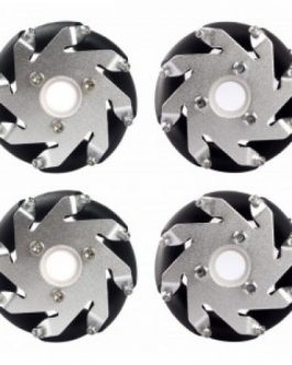 60MM ALUMINIUM MECANUM WHEELS SET( bearing type roller)-4pcs