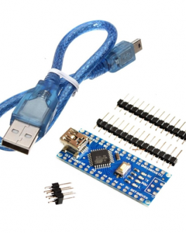 Nano V3.0 CH340 Chip with Mini USB Cable Compatible with Arduino (Unsoldered)