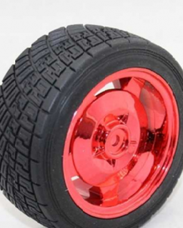 83MM Large Robot Smart Car Wheel, 35MM Width Surface Red