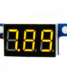 0.28inch 0-100V Three Wire DC Voltmeter Yellow