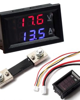 0.28 inch DC 100V 100A LED Digital Ammeter-Voltmeter With Shunt