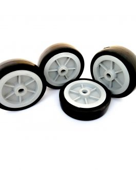 EasyMech Heavy Duty(HD) Disc Wheel 100mm Diameter (Gray) – 4Pc
