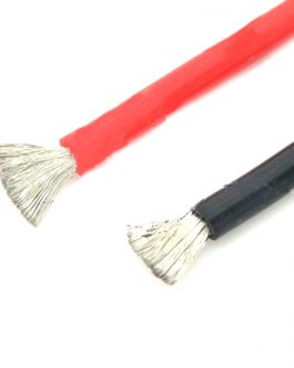 High Quality 6AWG Silicone Wire 0.5m (Black) + 0.5m (Red)